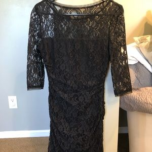 Max & Cleo Dresses - Black lace 3/4 sleeves mini